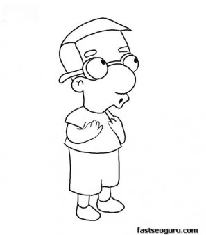 PrintableSimpson  Millhouse Coloring Page