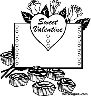 Printable sweet valentine heart coloring page printable for Sweet sixteen coloring pages