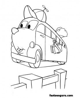 Free cars coloring pages for kids