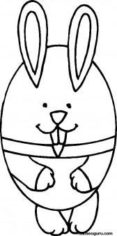 Printable Easter Bunny Egg Coloring Page for kids