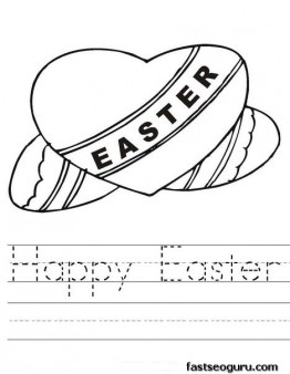 Free Printable Heart Coloring Pages Easter