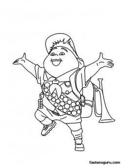 Printable Disney up the movie happy Russell coloring pages