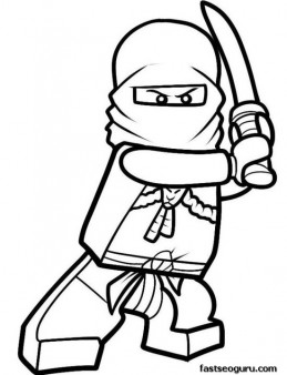 Printable Cartoon Lego Ninjago Coloring in Sheets for boy