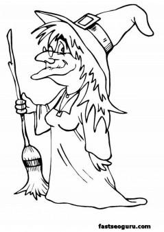 Free Halloween hakser coloring page