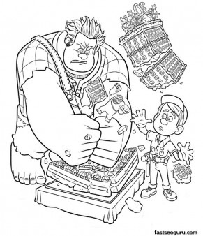 Printable Wreck It Ralph and Felixs coloring pages