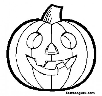 Halloween pumpkin printable coloring pages