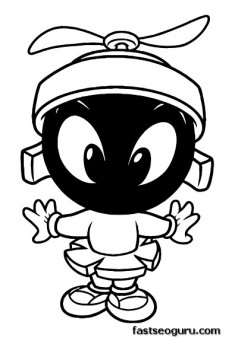 Printable Baby Looney Tunes Baby Marvin coloring pages
