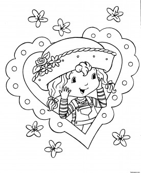 Printable Cartoon Strawberry Shortcake Coloring Pages For
