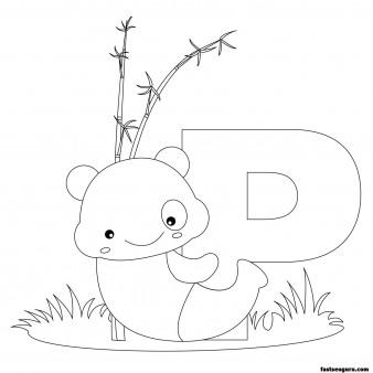 Printable Animal Alphabet worksheets Letter P for Panda