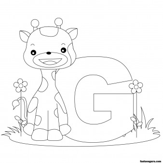 Printable Animal Alphabet worksheets Letter G is for Giraffe