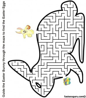 Impertinent image within easter maze printable