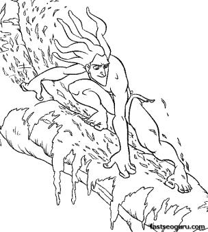 Printable disney Tarzan coloring