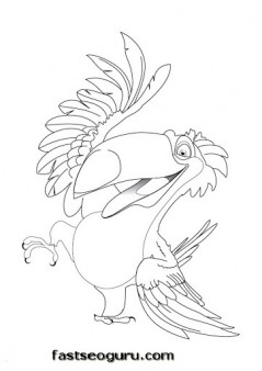 Printable Disney Rafael Rio Coloring Pages
