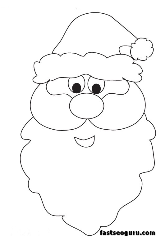 santa clause printable coloring pages - photo#25