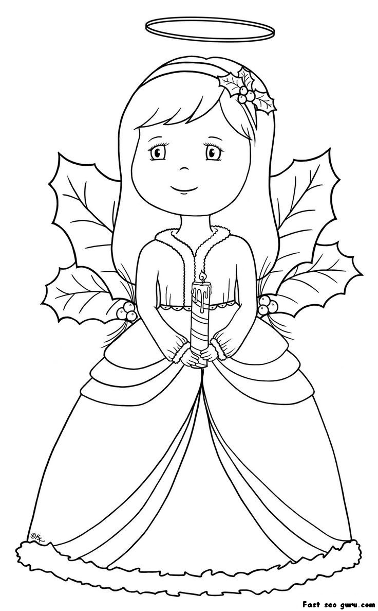 printable christmas coloring pages angels - photo#5