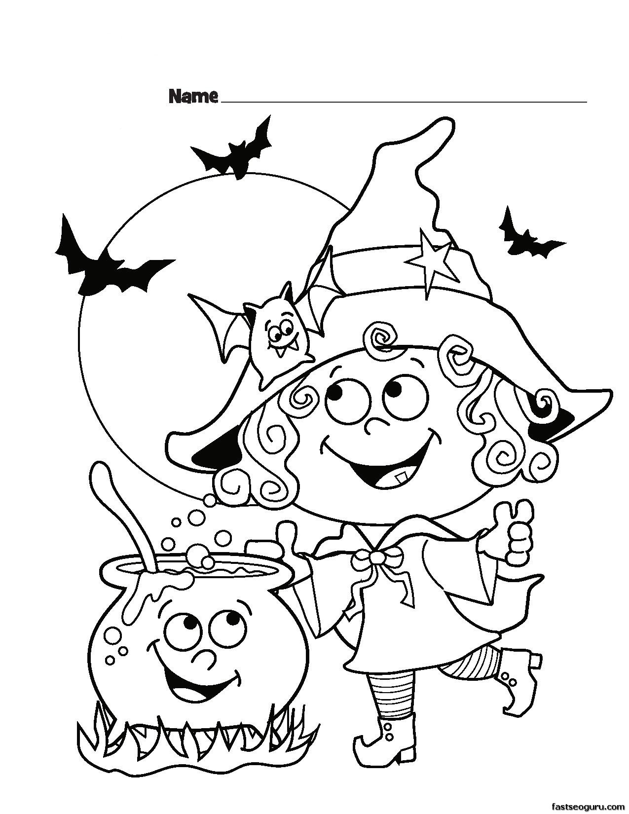 halloween witch coloring pages - photo#2