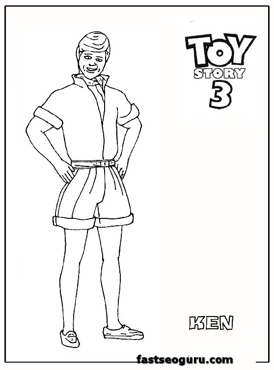 ken toy story 3 coloring pages for kids