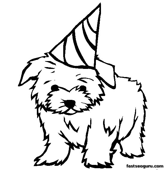 coloring pages dog Maltese printable - Printable Coloring Pages