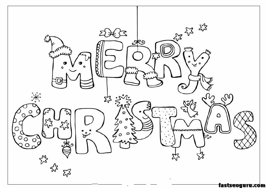 Merry Christmas Print Out Coloring Pages Printable