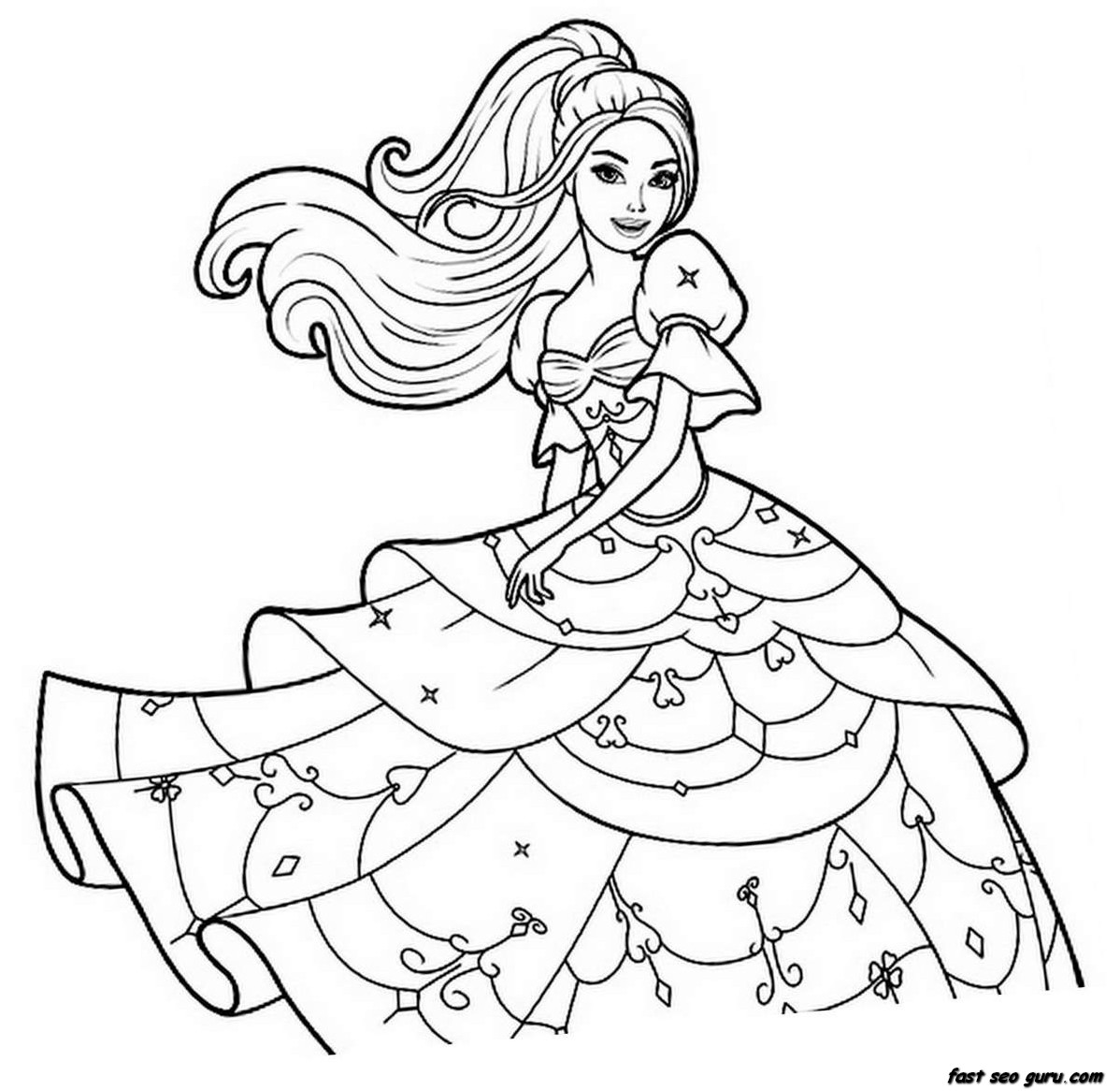 barbie print out coloring pages - photo#3