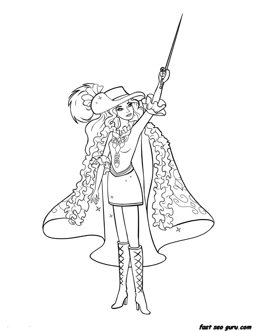 barbie print out coloring pages - photo#19