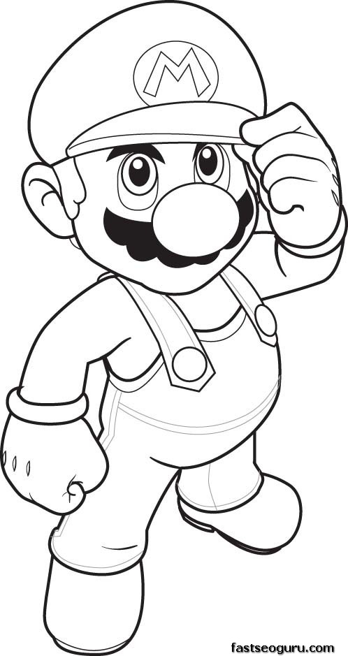 Print out Coloring pages Mario
