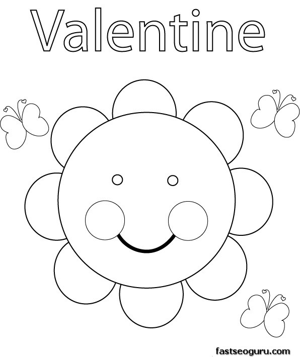 valentine coloring pages to print out - photo #1