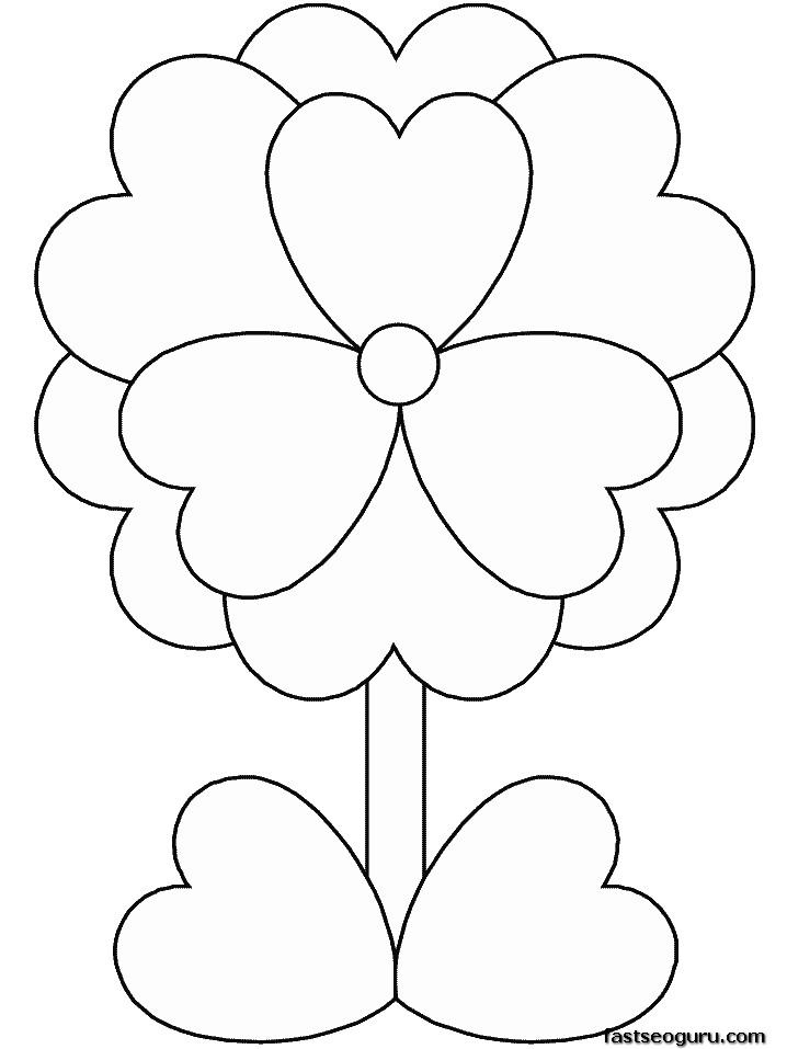 Print out Valentines Day Flower coloring pages for kids ...