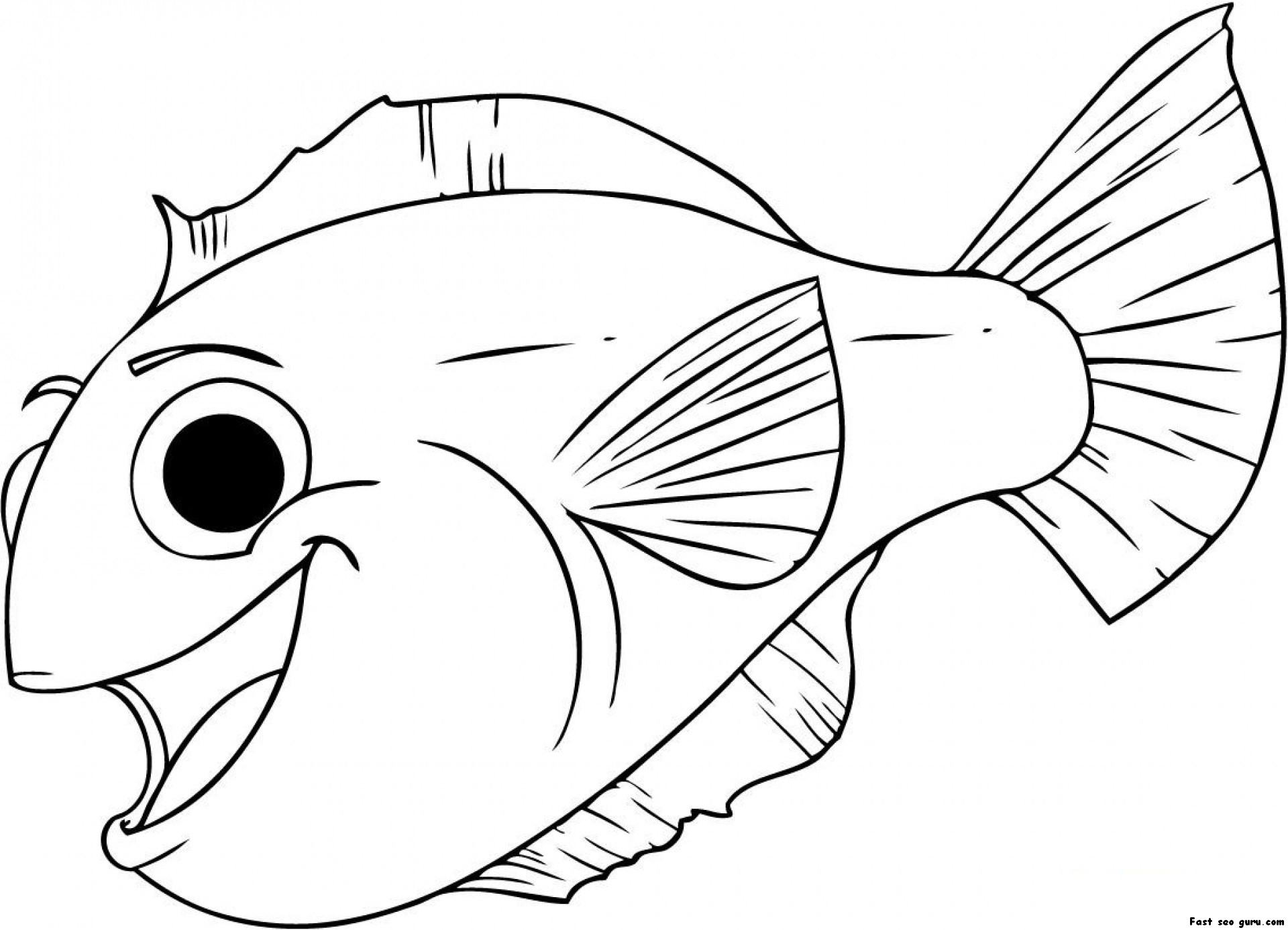 Print Out Happy Aquarium Fish Coloring Pages Colouring Pictures To Print