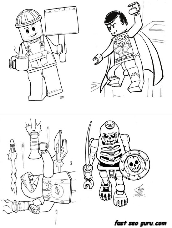 lego hero factory coloring pages - free lego hero factory heroes coloring pages