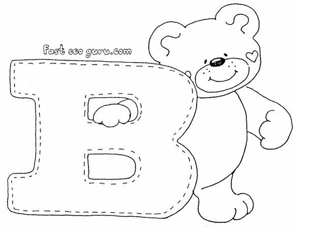 Letter B Coloring Pages For Preschoolers : Print out letter b is for bear coloring pages preschoolers