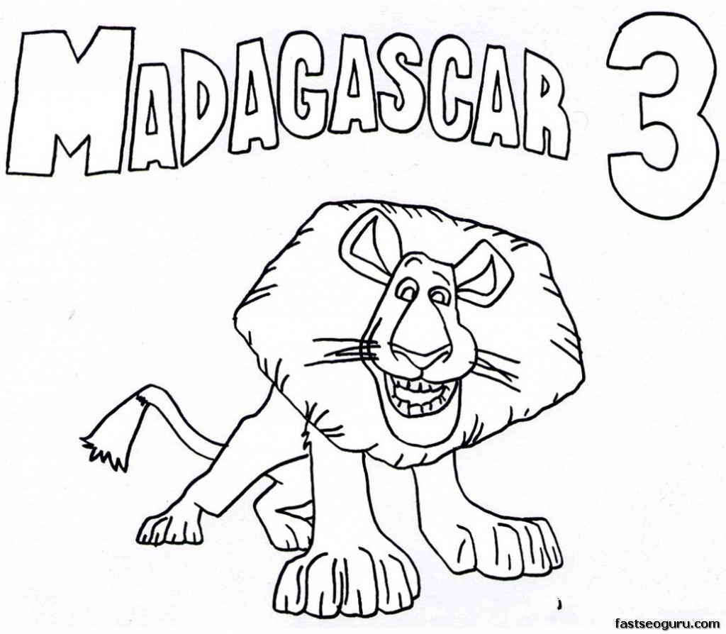 madagascar 3 marty coloring pages - photo#21
