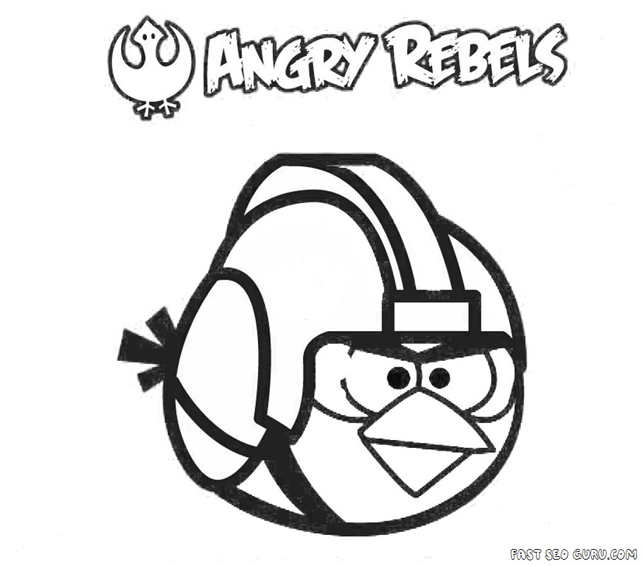Printable Angry Birds Star Wars Coloring Page Angry Bird Wars Coloring Page