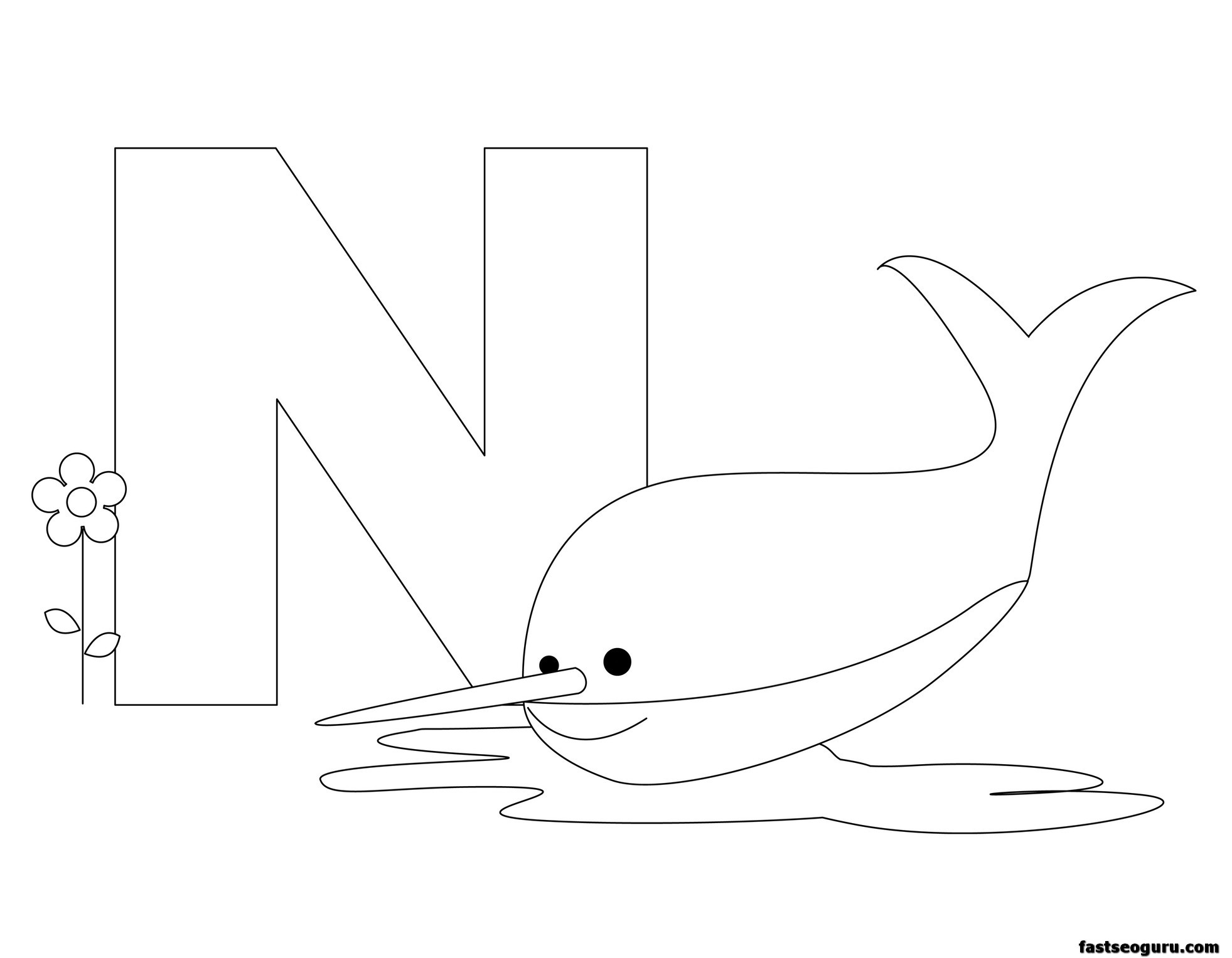 Printable Animal Alphabet Worksheets Letter N Is For Nurse