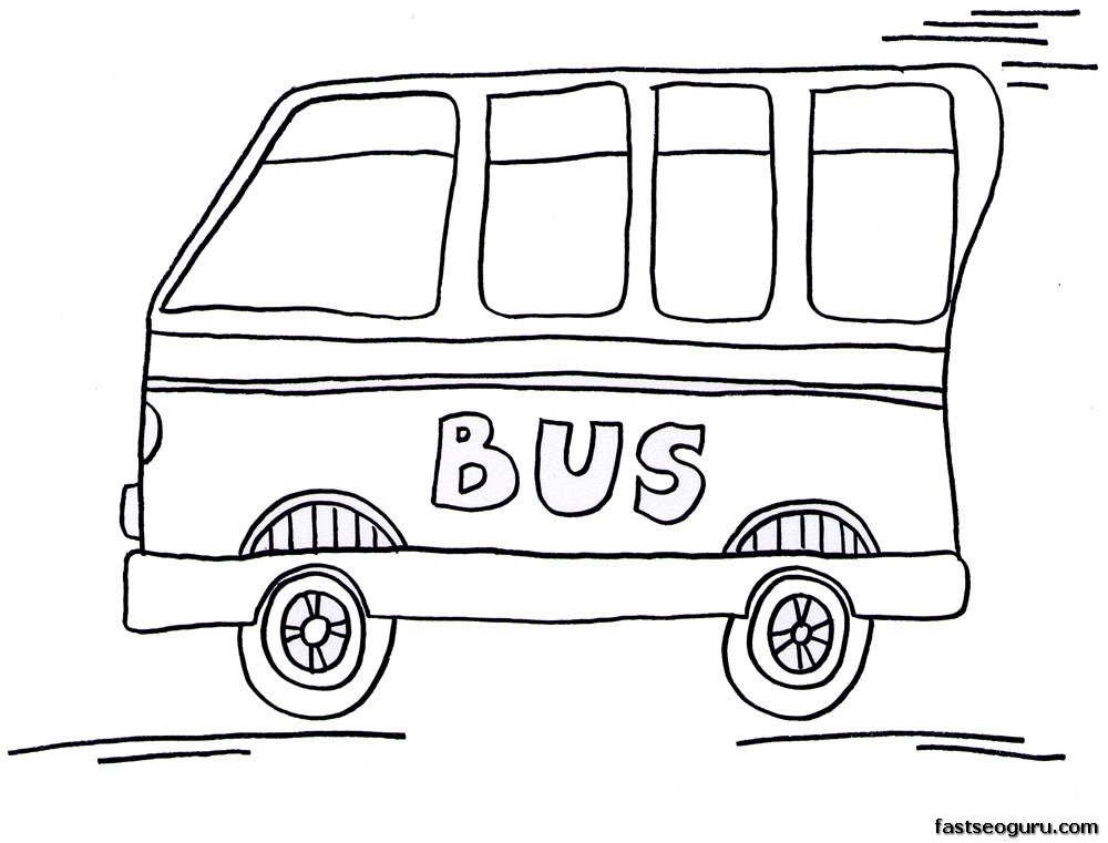 bus coloring pages - photo#21