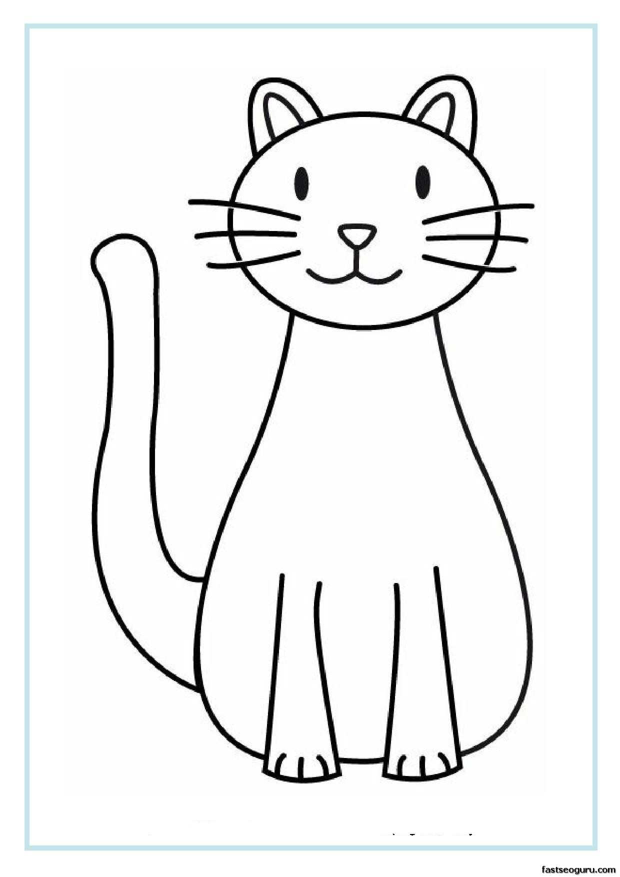 Printable cat coloring pages for kids printable coloring for Cat color pages