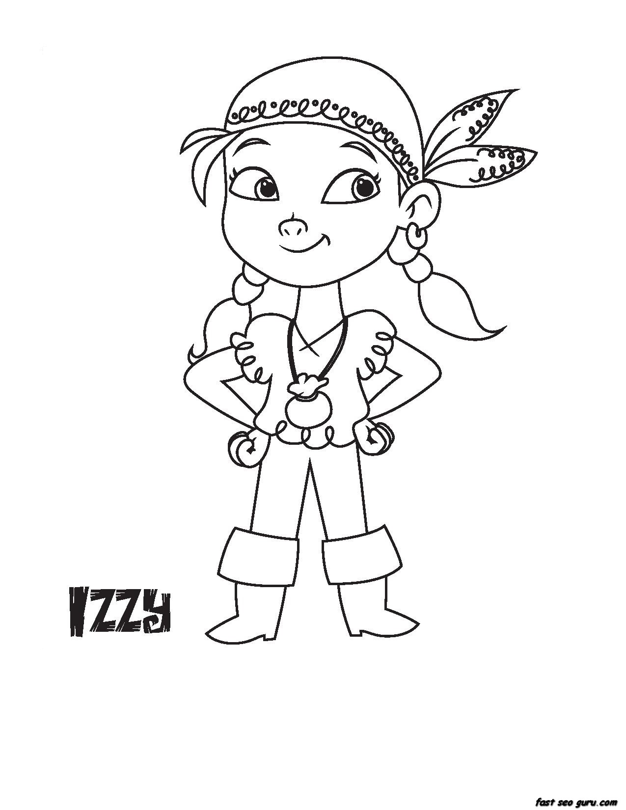 Printable Disney Junior Izzy coloring book pages Printable Coloring Pages For Kids