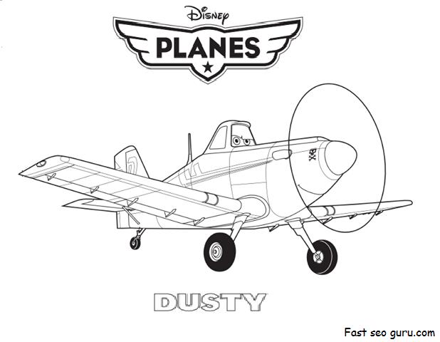 Printable Disney Planes Dusty Coloring Page Disney Planes Coloring Pages