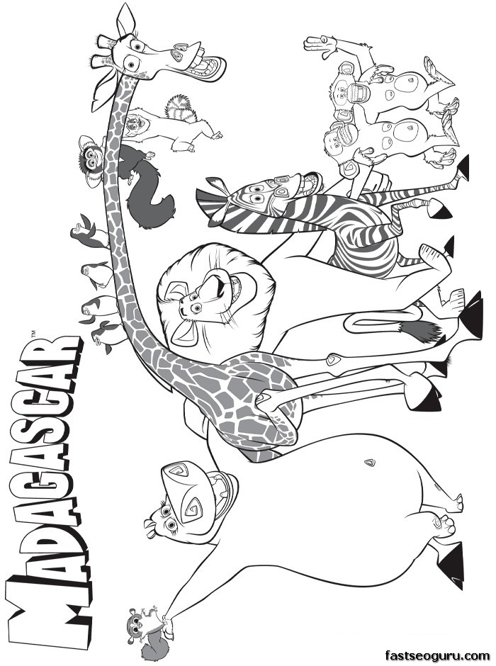 madagascar characters coloring pages printable disney madagascar main characters coloring pages