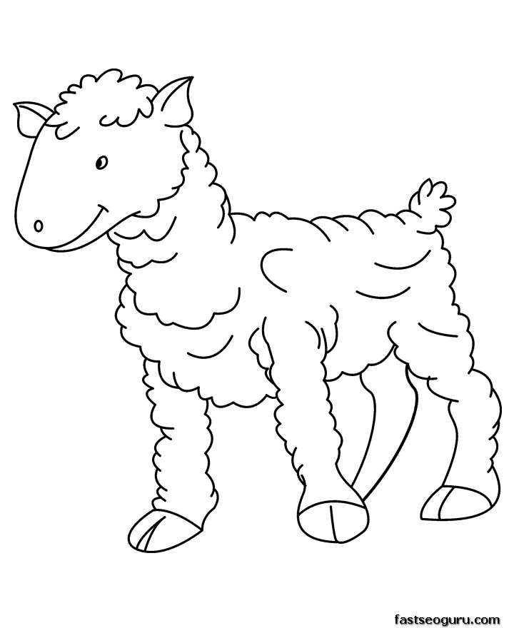 Printable Farm animal Baby sheep