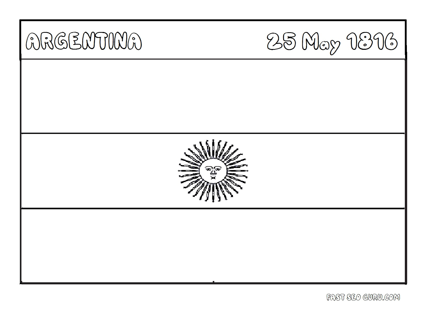 Argentina Flag Coloring Pages Argentina Coloring Pages