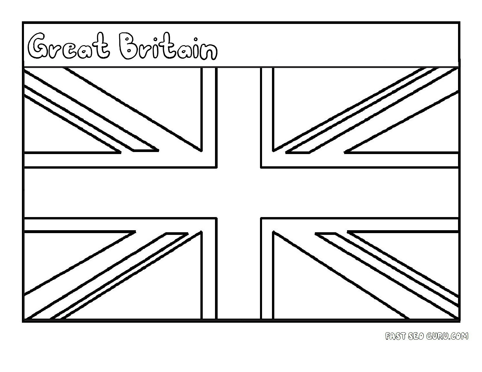 Gb Flag Free Colouring Pages Uk Flag Coloring Page