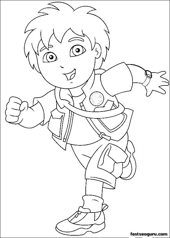 Printable Go Diego Go Disney Characters Coloring Page Printable Characters Coloring Pages