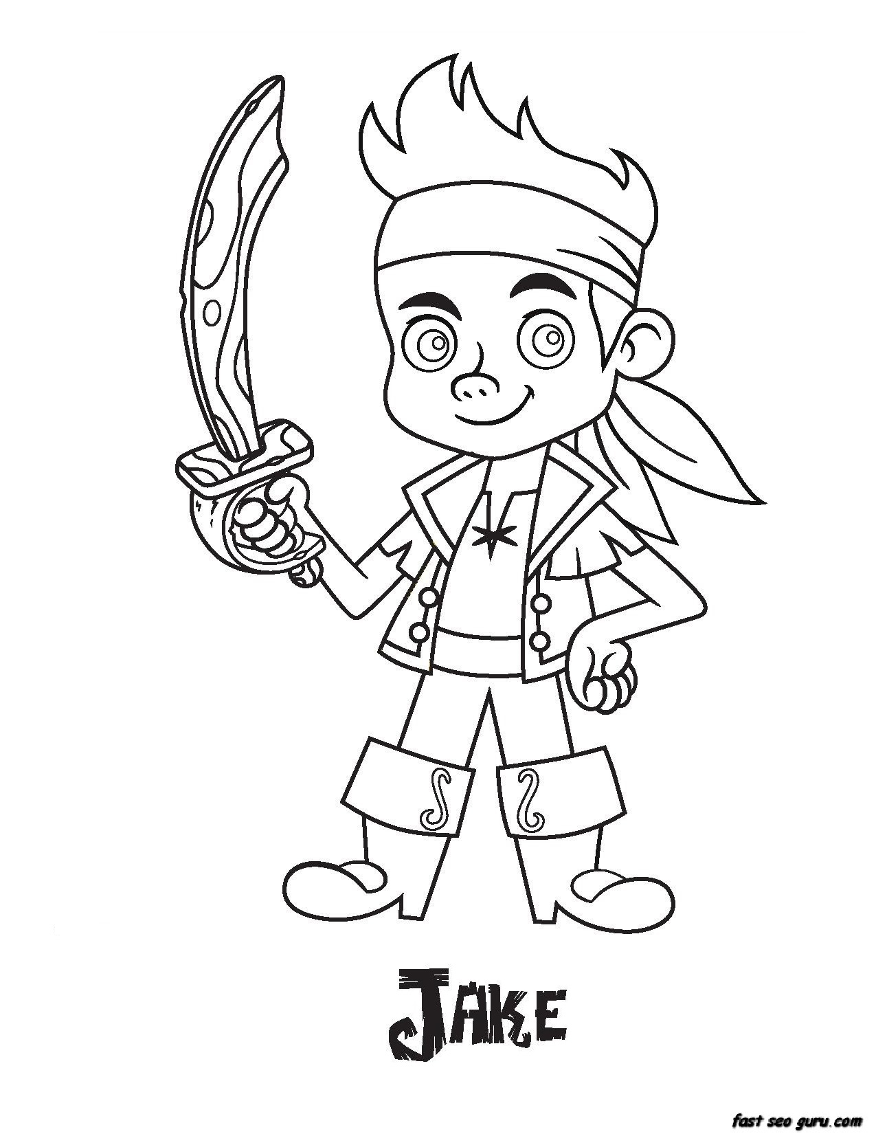 Printable Jake Pirates coloring pages Printable Coloring