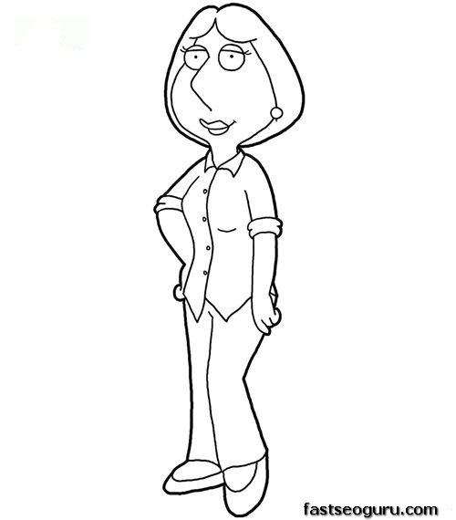 family guy coloring pages to print - griffin pencil coloring coloring pages