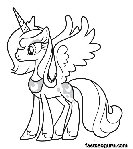 Printable My Little Pony Friendship Is Magic Princess Luna Mlp Coloring Pages Princess Free Coloring Pages