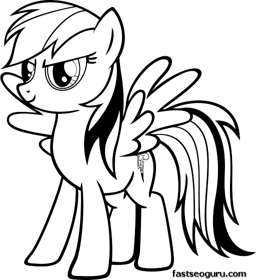 My Little Pony Coloring Pages Friendship Is Magic Rainbow Dash : My little pony friendship is magic rainbow dash coloring