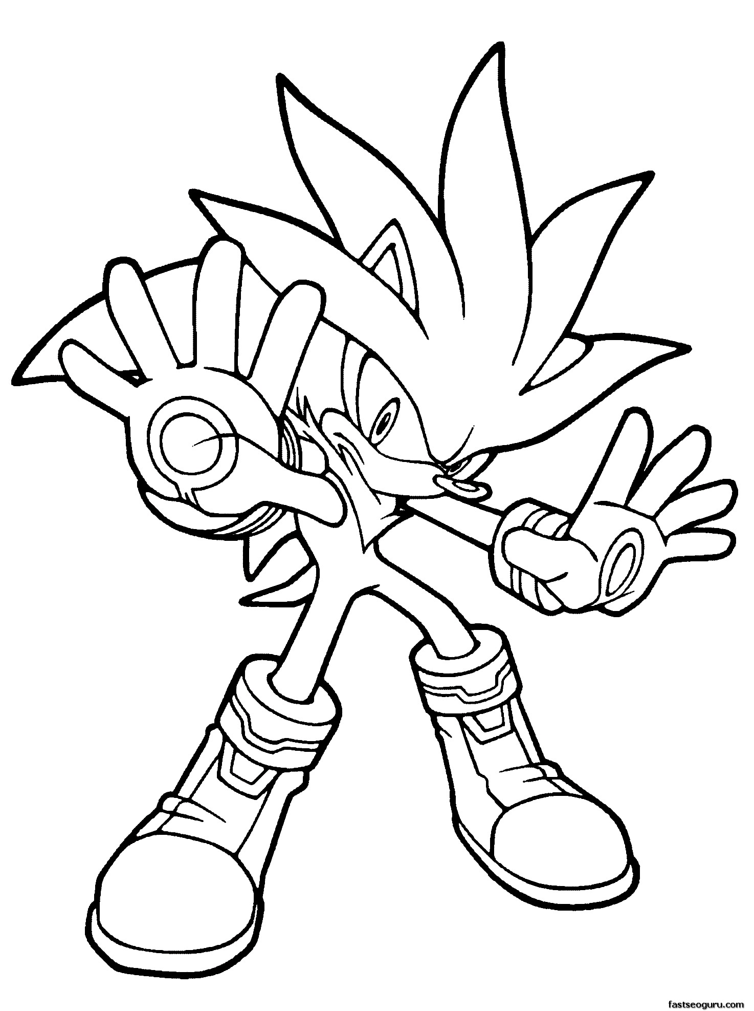 Free Sonic The Hedgehog 1 Coloring Pages