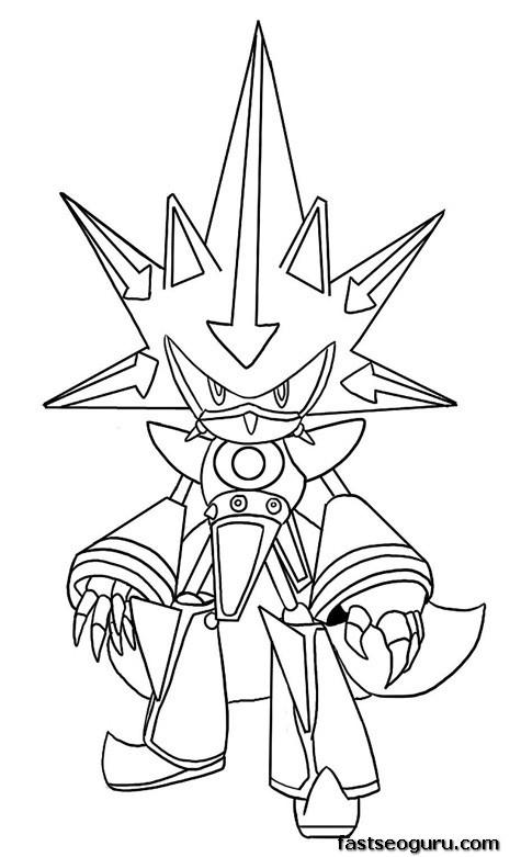 Printable Sonic the Hedgehog Neo