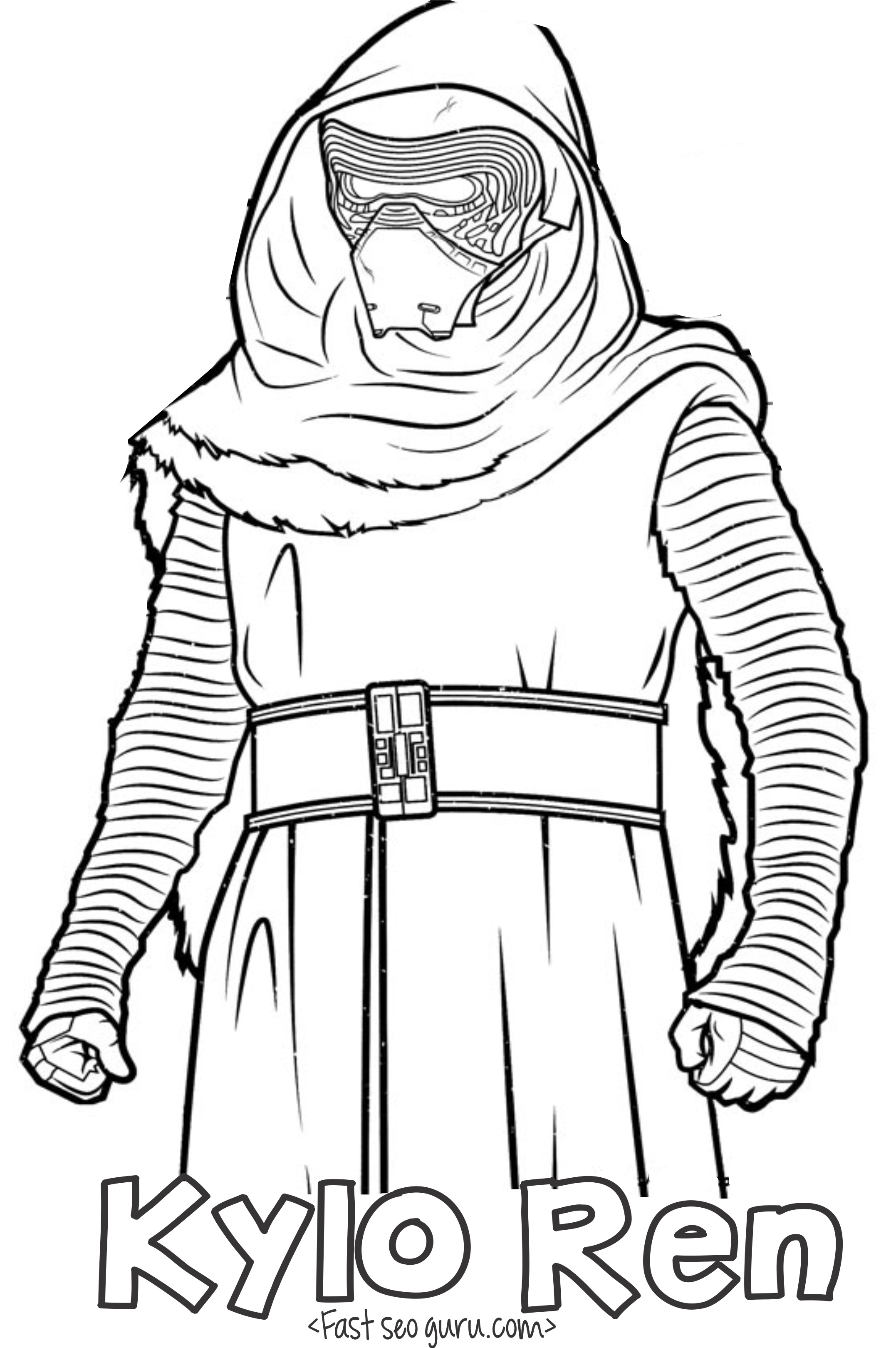Star Wars The Force Awakens Kylo Ren Coloring Pages Download